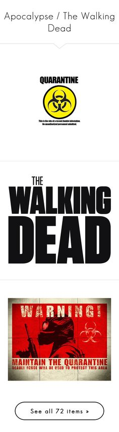 """""""Apocalypse / The Walking Dead"""" by bellageorgia ❤ liked on Polyvore featuring filler, home, home decor, walking dead, the walking dead, text, words, wall art, backgrounds and vintage map wall art"""