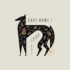 East Howl designed by Adam Anderson. Connect with them on Dribbble; the global community for designers and creative professionals. Logo Branding, Typography Logo, Graphic Design Typography, Graphic Design Illustration, Digital Illustration, Graphic Art, Lettering, Vintage Graphic Design, Corporate Branding