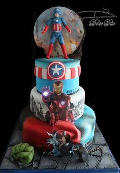 A venger cake Marvel Cake, Themed Cakes, Facebook Sign Up, Snow Globes, Hero, Theme Cakes, Cake Art