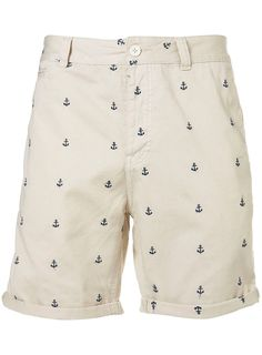Cream Anchor Embroidery Shorts - Sale - Sale & Special Offers - TOPMAN USA