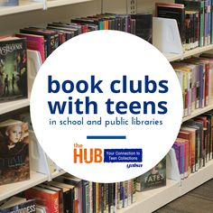 Book clubs are one of the intersections between collection development and programming. There are an infinite number of ways to organize a book club in a… Teen Programs, Youth Programs, Library Programs, School Programs, Library Signage, Library Work, Teen Library, Class Library, Library Ideas