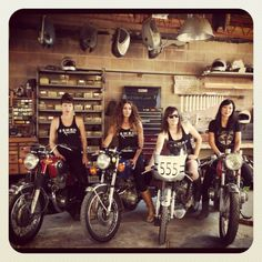 East Side Moto Babes?  I don't know you but I want your garage so bad.