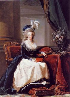 Portrait of Marie Antoinette, by Vigee Le Brun. Oil on canvas. 1788