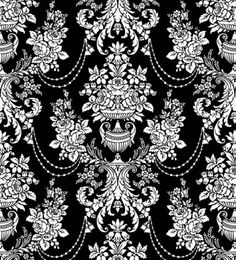 classic traditional black and white pattern 02 vector Vector Pattern, Pattern Art, Print Patterns, Pattern Design, French Pattern, Baroque Pattern, Sketch Free, Victorian Wallpaper, Black Decor