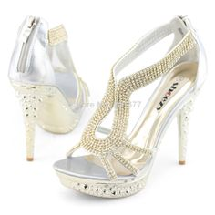 Aliexpress.com : Buy SHOEZY women sexy high heels gladiator sandals platform open toe strappy wedding shoes silver gold crystal for ladies prom new from Reliable shoes womens suppliers on SHOEZY Flagship Store