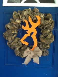 Browning Camo Hunting Wreath-$45 Wreaths By Michelle www.facebook.com/michelleswreaths Shipping available upon request
