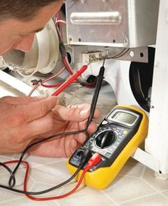 Most dryer repair work can be done in an hour with a few basic tools and a continuity tester—you can do the work without a dryer repairman. General Electric, Washer Machine, Clothes Dryer, Home Fix, Appliance Repair, Home Repairs, Washer And Dryer, Handy Tips, Helpful Hints