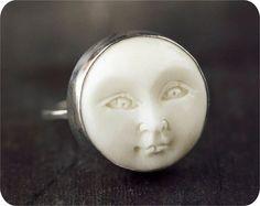 Full Moon Ring // Custom Sterling Silver Ring