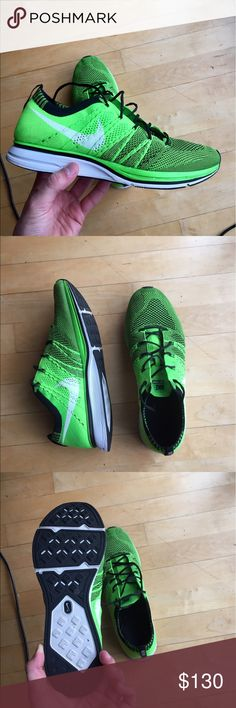 Flyknit trainer electric green size 10 Very clean, little wear 9/10 condition Nike Shoes Athletic Shoes