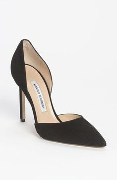Manolo Blahnik 'Taylor' d'Orsay Pump. Beautiful lines on this pump...so sexy! | Nordstrom