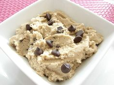 "Edible Chocolate Chip Cookie Dough - it's meant for eating - NO eggs!  Tastes just like ""normal"" cookie dough!:"