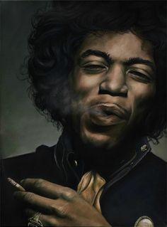 Acrylic painting of Jimi Hendrix by Hara-Kiri Pop Art Marilyn, Scott Mitchell, Blues Rock, Music Icon, Concert Posters, Jimi Hendrix, Urban Art, In This World, Art Photography