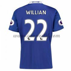 maillot de foot Premier League Chelsea 2016-17 Willian 22 maillot domicile