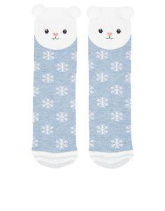 Top Placement Polar Bear Socks
