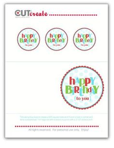 Happy birthday tags - cute as a label on the envelope