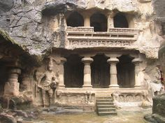 Ellora caves entrance, India