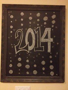2014 new year chalkboard art