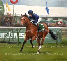 George Washington by Jacqueline Stanhope  Winner of the 2000 Guineas, Queen Elizabeth II Stakes, Pheonix Stakes and National Stakes. A brilliant miler and an outstanding racehorse. Trained at Ballydoyle by Aidan O'Brien. By the great stallion Danehill.
