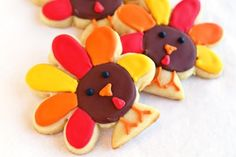 Thanksgiving turkey sugar cookies by Bake at 350