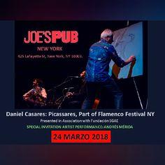 Performance en Jóes Pub . New York . Marzo 2018 - Andrés Merida Pintor