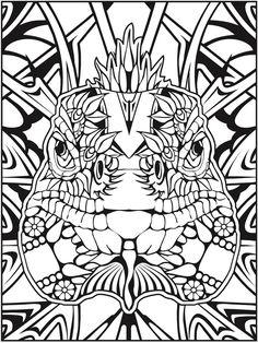 From Animal Calaveras Coloring Book Adultcoloringbook
