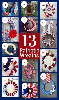 13 Awesome Patriotic Wreaths - chaosandlove.com
