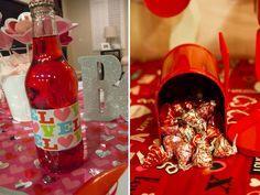 valentine tablescapes | Valentine's day tablescape red crush and chocolate kisses