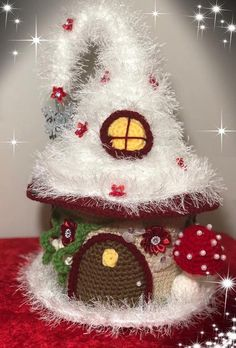 Excited to share this item from my shop: Crochet Fantasy Fairy House, Christmas Fairy House, Fairy House pattern Crochet Patterns Amigurumi, Crochet Toys, Christmas Fairy, Christmas Crafts, Crochet Fairy, Holiday Crochet, Crafts For Girls, Crochet Basics, Yarn Needle