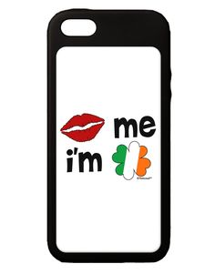 Kiss and Irish Flag Shamrock - Kiss Me I'm Irish iPhone 5C Grip Case by TooLoud