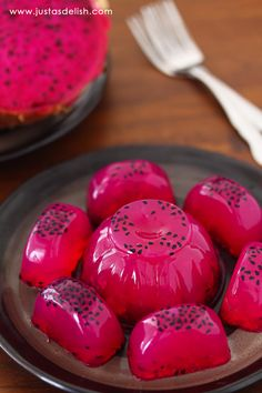 Dragon Fruit Agar Agar (Dragon Fruit Jelly) | JustAsDelish.com