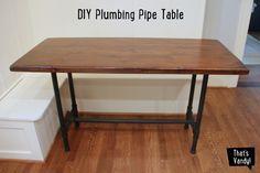DIY Plumbing Pipe Table