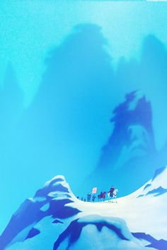 Mulan, marching on to battle, snowy scenery