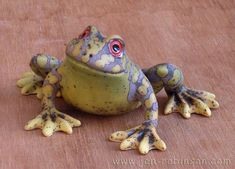 This one came out rather nicely Hand modelled earthenware frog sculpture