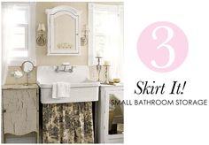 5 Small Bathroom Storage Ideas | A Fab Life
