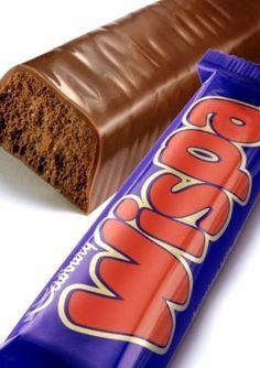 Wispa is pure temptation Famous Chocolate, Cadbury Chocolate, Types Of Chocolate, British Candy, Cadbury World, Types Of Candy, Deserts, Yummy Food, Sweets