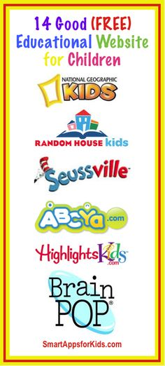 Top 14 Free Educational Websites for Kids www. Top 14 Free Educational Websites for Kids www. Top 14 Free Educational Websites for Kids www. Educational Websites For Kids, Educational Activities, Educational Technology, Kids Websites, Teacher Websites, Reading Websites For Kids, Classroom Websites, Websites For Students, Parenting Websites