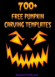 Over 700 FREE Printables: Have you figured out how you are carving your pumpkins this year? Pumpkin Carving Templates Free, Halloween Pumpkin Carving Stencils, Pumpkin Carving Party, Halloween Pumpkins, Halloween Crafts, Halloween Stuff, Pumpkin Templates Free Printable, Halloween Templates, Halloween Decorations