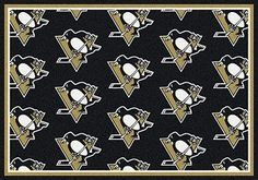 Pittsburgh Penguins Logo Repeat Rug in Pittsburgh Penguins from ACWG