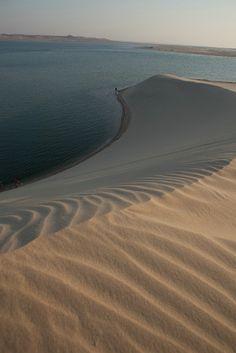 Inland Sea in Qatar where it meets the desert!