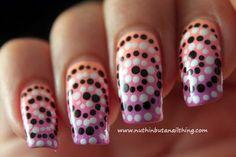 Swirly Polka Dot Nails #nailart #prettynails #colorful #dotted #nails - bellashoot.com