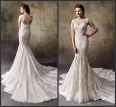 Top Sale Appliques Elegant Dress For Wedding Bateau Neck Iullsion Sexy Back Covered Bottons Long Sleeve Count Train Formal Cheap Price Designer Gown Different Wedding Dresses From Lovemydress, $127.02| Dhgate.Com