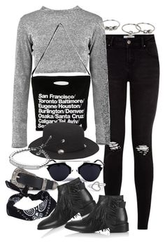"""""""Untitled #1073"""" by victoriamk ❤ liked on Polyvore featuring Boohoo, American Apparel, Forever 21, Una-Home, Topshop, Michael Kors, ASOS, MANGO, Herz and affordable"""
