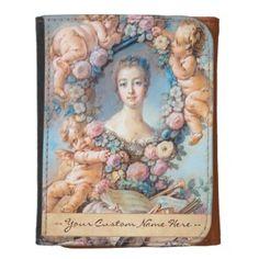 Madame de Pompadour François Boucher rococo lady Leather Wallet #madame #pompadour #pastel #portrait #boucher #Paris #France #classic #art #custom #gift #lady #woman #girl
