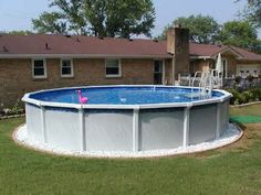 Above Ground Pool Ideas Backyard above ground pool in the hills of san antonio deck Find This Pin And More On Home Ideas Landscaping Around Above Ground Pools