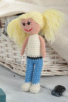 "Designer crocheted doll is made of acrylic threads using crocheted hook. The toy is stuffed with holofiber.The eyes are made of black beads. This crocheted doll will become the best friend for your little princess.You can order the product in different sizes and colors.Length: 5.51"", width:... see more details at https://bestselleroutlets.com/baby/baby-toddler-toys/product-review-for-soft-stuffed-toy-handmade-unique-crocheted-toy-children-designer-doll-for-girl/"