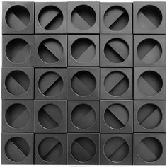 Creation by Paolo Scheggi. 3d Pattern, Shape Patterns, Surface Pattern, Textures Patterns, Color Patterns, Pattern Design, Facade Pattern, Print Design, Beton Design