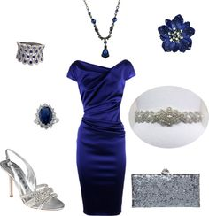 """""""Royal Blue & Silver"""" by mgloria on Polyvore"""