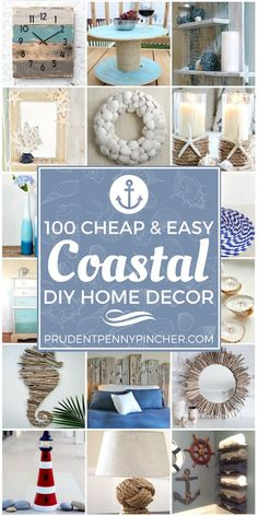 100 Cheap and Easy Coastal DIY Home Decor Ideas Give your home a coastal feel with these cheap and easy DIY coastal home decor ideas. From coastal art to coastal furniture ideas, there are over a hundred ways to add a seaside vibe to Design Seeds, Cute Dorm Rooms, Cool Rooms, Coastal Art, Coastal Homes, Beach Homes, Coastal Bedrooms, Coastal Country, Small Bedrooms