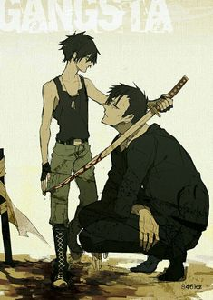 Nicolas Brown ~ gangsta   The anime ending sucks... Well it doesn't really end because the company went bankrupt and stopped producing it ,_,