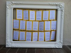 Seating chart for a friend's wedding